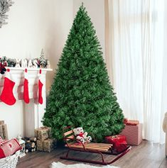 Best Choice Products Premium Hinged Artificial Christmas Pine Tree Holiday Decoration w/ Solid Metal Stand, Tips, Easy Assembly - Green Image 1 of 7 Best Artificial Christmas Trees, Pine Christmas Tree, Merry Little Christmas, Christmas Fun, Pine Tree, Xmas Trees, Elegant Christmas, Scandinavian Christmas, Rustic Christmas
