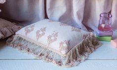 Olivia Throw Pillow con lino / Olivia x colchón ropa de cama (colchón de plumas)   Almohada Decorativa  