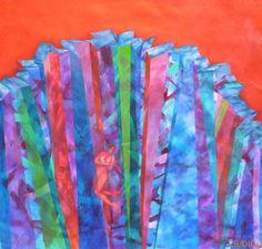 Acantilado 2011 Oleo s tela 100 x100
