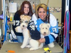 Some great fans sporting their jerseys at work during Hockey Weekend Across America