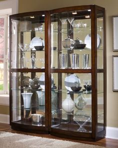 Curio cabinets made from three kind materials, wooden, metal and glasses. Cause of the function of this furniture is to displaying ornaments at your house, curio cabinets also known as glass cabinet. This cabinet usually placed at dining or living room, because there is place for gathering with family and guest. Well, they can look out and enjoy our collection too.