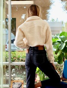 Fur Jackets, Turtle Neck, Sweaters, Fashion, Moda, Fashion Styles, Sweater, Fashion Illustrations, Sweatshirts