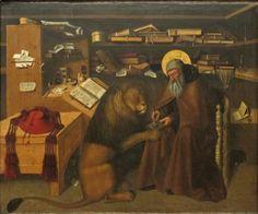 "koredzas: "" Niccolò Antonio Colantonio - Saint Jerome in His Study. 1445 """