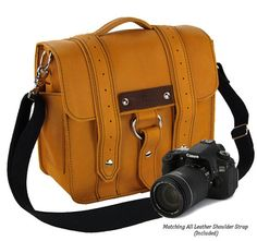 NEW Small Leather Camera bag   Sunrise Color by CopperRiverBags, $148.95