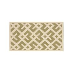 Safavieh Courtyard Geometric Indoor Outdoor Rug, Green #OutdoorRugs
