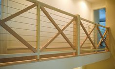 Project of the Month - September A modern staircase design with a custom wood and cable handrail system. Modern Staircase, Staircase Design, Cable Railing Systems, Custom Wood, Interior And Exterior, Modern Design, September, Stairs, Minimalist