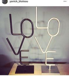 Love by Yanick Bluteau Welding Art Projects, Metal Projects, Metal Crafts, Welded Furniture, Backdrop Design, Scrap Metal Art, Cafe Design, Yard Art, Metal Working