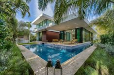 Tucked away in the prestigious Sunset Islands sits a 13,068 sq. ft. modern oasis that's a perfect paradise for any homeowner. The newly finished two story, 5800 sq. ft. home is located at 2300 Sunset Drive in Miami Beach, Florida.