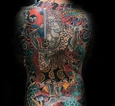 50 Fudo Myoo Tattoo Designs For Men - Acala Ink Ideas Yakuza Tattoo, Back Tattoo, Tattoo Designs Men, Tatting, Mens Fashion, Japanese, Style, Tattoo, Ink