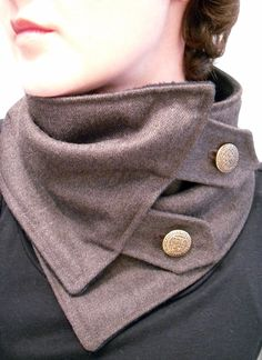 Unique neck warmer by Christina Robinson.  I want one of these.