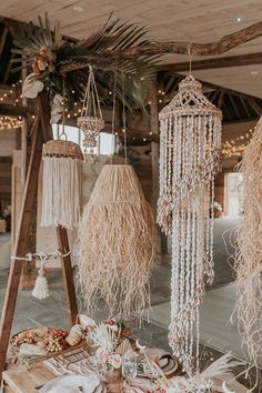 A dreamy bohemian wedding shoot with beach inspired decor elements, bridal crowns, dried flower crowns and stunning lace wedding dresses. Bohemian Beach Wedding, Beach Wedding Inspiration, Boho Bride, Beach Weddings, Bohemian Beach Decor, Bali Decor, Picnic Weddings, Seashell Wedding, Bohemian Wedding Decorations