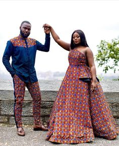 African Wedding Attire, African Attire, African Dress, African Clothes, Couples African Outfits, Couple Outfits, Family Outfits, Girly Outfits, Classy Outfits