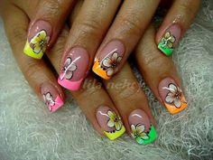 Colourful nail art...