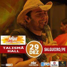 É neste dia 29 de dezembro em Salgueiro, PE que vai ter a balada do Vaqueiro White, o PRÉ REVEILLON no Clube TALISMÃ HALL. A festa também vai ter as atrações...
