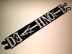 Death Note Manga Anime Cosplay Peyote Bracelet #handmade #etsyretwt