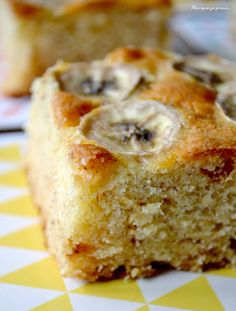 Blondies aux bananes