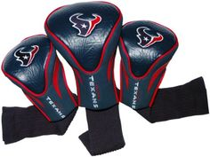 Golf Balls Ideas | NFL Houston Texans 3 Pack Contour Head Covers *** Read more reviews of the product by visiting the link on the image. Note:It is Affiliate Link to Amazon. #art