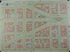 Washington DC Mount Vernon Square Vintage Baist City Map 1957