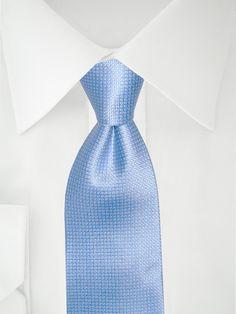 Hellblau karierte Krawatte