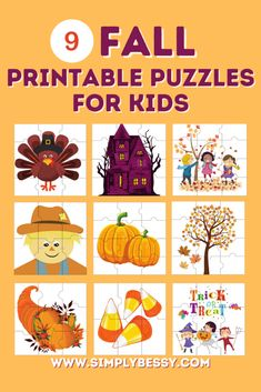 Fall Printable Puzzles for Kids | Simply Bessy | Kids Crafts and Activities
