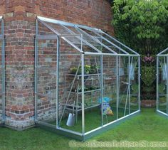 Halls Europa Silver 8x4 Lean to Greenhouse from Greenhouse Stores.   http://www.greenhousestores.co.uk/Halls-Europa-Silver-8x4-Lean-To-Greenhouse-Horticultural-Glass.htm
