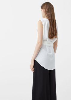 Bow blouse | MANGO