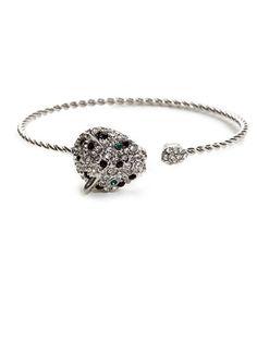 Silver Spotted Cheetah Bangle, $32; baublebar.com #bracelets #budget