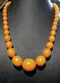 Vintage Butterscotch Baltic Amber Necklace by ElegantArtifacts, $2100.00