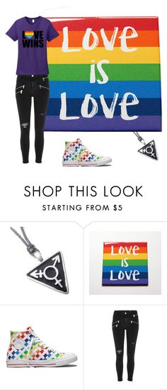 """lgbt"" by bring-me-the-sirenz on Polyvore featuring Converse and River Island"