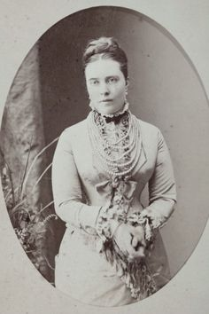 Kaiserin Victoria of Prussia when Kronprinzessin. Circa 1879.