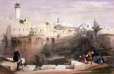The Holy Land; Louis Haghe (Print made by); David Roberts (After); Jerusalem, April 12th 1839. British Museum.
