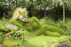 moss garden sculpture