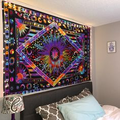 Tie Dye Purple Burning Sun Tapestry Psychedelic Celestial Sun Moon Planet Bohemian Tapestry Wall Hanging Mandala Boho Hippie Tapestry ** Check out the image by visiting the link. (This is an affiliate link) Trippy Tapestry, Colorful Tapestry, Bohemian Tapestry, Tie Dye Tapestry, Tapestry Nature, Psychedelic Tapestry, Tapestry Headboard, Tapestry Bedroom, Tapestry Wall Hanging