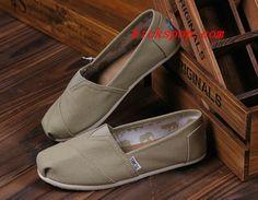 #Toms Shoes #Womens Classic Khaki Canva #greats