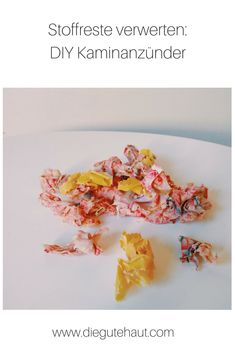 Upcycling: Kaminanzünder selber machen aus Stoffresten Upcycle, Breakfast, Health, Diy, Food, Craft, Fall Crafts, Fabric Scraps, Upcycling Ideas
