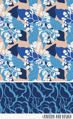 Pattern and Design. Learn to create surface pattern designs - Surface pattern design by Pattern and Design from the Serene Collection - Flower Pattern Design, Art Deco Pattern, Surface Pattern Design, Pattern Designs, Abstract Pattern, Textiles, Textile Patterns, Textile Design, Print Patterns