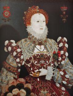 "Queen Elizabeth I, ""The Pelican Portrait"" Attr. to Nicholas Hilliard: c. 1575. Walker Art Gallery, Liverpool Museums."