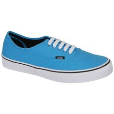 Vans Authentic Canvas Trainers - Malibu Blue/ Black ($73) ❤ liked on Polyvore