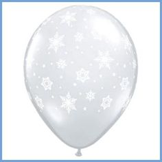 Clear latex balloon with assorted white snowflakes Size: Frozen Birthday Party Supplies, Disney Frozen Birthday, Kids Party Supplies, Frozen Party, Frozen Frozen, Clear Balloons, Helium Balloons, Latex Balloons, Wedding Balloons