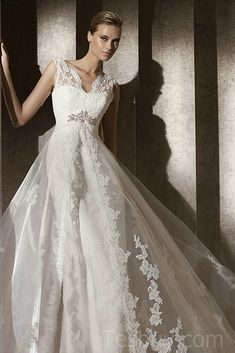 1000 images about wedding dresses on pinterest mermaid for Lace overlay wedding dress