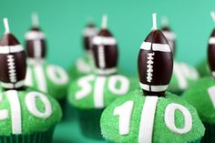 Football Cupcake idea