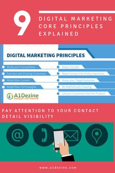 Digital Marketing Principles: Study Your Competitors, Connection with Customers, Make Good Content, Be Flexible, Sell feelings not product.