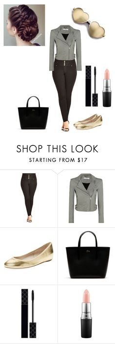 """""""chill"""" by mmmescher on Polyvore featuring City Chic, IRO, Elorie, Lacoste, Gucci, MAC Cosmetics and Wildfox"""