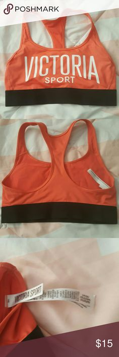 NWOT Victoria Secret Sport bra ⭐nwot  ⭐no rips, tears , holes , stains perfect shape ⭐Size small ⭐orange in color ⭐no trades ⭐same day ship ⭐Cat friendly home Victoria Secret Intimates & Sleepwear Bras