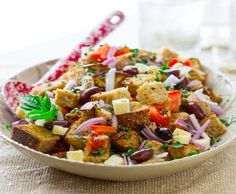 Grilled Chicken and Bread Salad