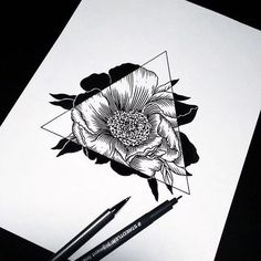 flowers, art, and drawing afbeelding