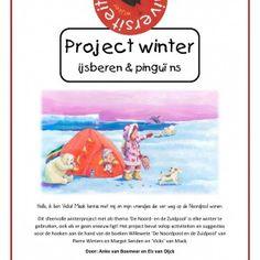Project-winter-ijsberen-en-pinguins Hallo, ik ben Vicks! Maak kennis met mij en mijn vriendjes die ver weg op de Noordpool wonen.  Dit sfeervolle winterproject met als thema 'De Noord- en de Zuidpool' is elke winter te gebruiken, ook als er geen sneeuw ligt! Het project bevat volop activiteiten en suggesties voor de hoeken aan de hand van de boeken Willewete 'De Noordpool en de Zuidpool' van Pierre Winters en Margot Senden en 'Vicks' van Mack.