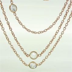 Rose Gold Diamonds By The Metre Necklace