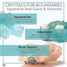 Crystal healing Crystals do Boundaries Aquamarine Amazonite Rose Quartz #KnowingYourChakras