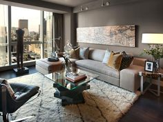 A warm, cozy contemporary space that showcases locally sourced furnishings and art, the living room offers breathtaking views of Boston's Public Garden, Beacon Street and Charles River.  #HGTVUrbanOasis  http://www.hgtv.com/urban-oasis/hgtv-urban-oasis-2013-living-room-pictures/pictures/index.html?soc=pinterest